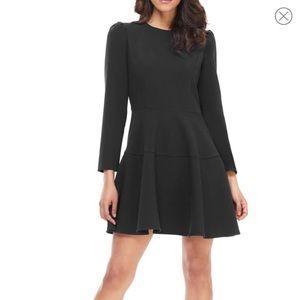 Gal Meets Glam Celeste Black Long Sleeve Dress
